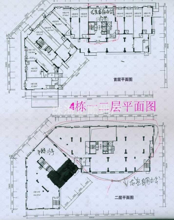 4栋商铺平面图